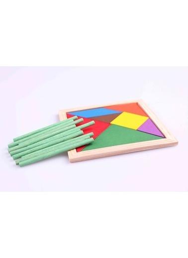 Ahşap 10'lu Sayı Çubuğu ve Tangram Seti-Learning Toys